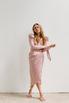 Розовое платье на запах с рукавом буф в прокат и аренду в Киеве. Фото 4