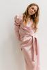 Розовое платье на запах с рукавом буф в прокат и аренду в Киеве. Фото 1