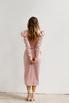 Розовое платье на запах с рукавом буф в прокат и аренду в Киеве. Фото 6