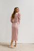 Розовое платье на запах с рукавом буф в прокат и аренду в Киеве. Фото 7