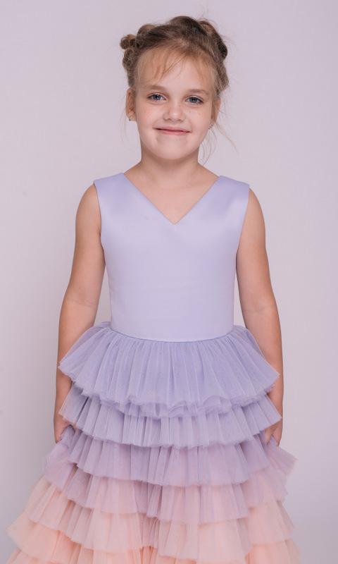 Детское платье с лавандовым градиентом