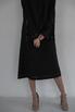 Платье длины миди свободного кроя с белой строчкой в прокат и аренду в Киеве. Фото 3