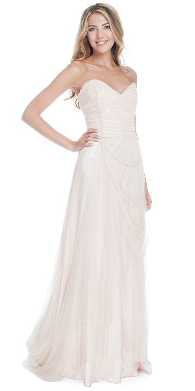 Бежевое платье maxi