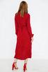 Красное платье миди на запах в черный горох в прокат и аренду в Киеве. Фото 3