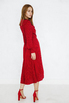 Красное платье миди на запах в черный горох в прокат и аренду в Киеве, Одессе, Харькове. Фото 4