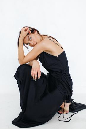 Шовкова сукня комбінація з асиметричним низом та драпіруванням в прокат и oренду в Киiвi. Фото 1