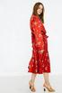 Шелковое платье на запах с принтом горчичного цвета в прокат и аренду в Киеве. Фото 4