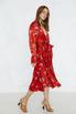 Шелковое платье на запах с принтом горчичного цвета в прокат и аренду в Киеве. Фото 2