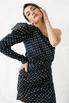 Шелковое платье мини в горошек с одним рукавом в прокат и аренду в Киеве. Фото 1