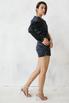 Шелковое платье мини в горошек с одним рукавом в прокат и аренду в Киеве. Фото 3