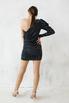 Шелковое платье мини в горошек с одним рукавом в прокат и аренду в Киеве. Фото 4