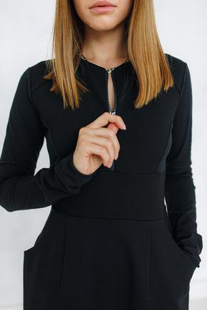 Сукня футляр з горловиною чорного кольору в прокат и oренду в Киiвi. Фото 2