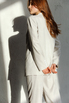 Брючный костюм серого цвета с тремя карманами в прокат и аренду в Киеве, Одессе, Харькове. Фото 6