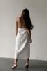 Белое платье миди на запах из льна в прокат и аренду в Киеве, Одессе, Харькове. Фото 4