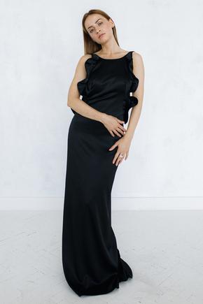 Вечірня сукня зі шлейфом і глибоким вирізом на спині в прокат и oренду в Киiвi. Фото 2