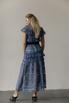 Платье миди из кружева с воротником и контрастным поясом в прокат и аренду в Киеве. Фото 4