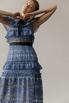 Платье миди из кружева с воротником и контрастным поясом в прокат и аренду в Киеве. Фото 2