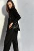 Брючный костюм черного цвета с тремя карманами в прокат и аренду в Киеве, Одессе, Харькове. Фото 4