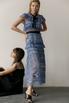 Платье миди из кружева с воротником и контрастным поясом в прокат и аренду в Киеве. Фото 6
