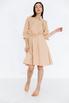 Платье-рубашка длины миди песочного цвета в прокат и аренду в Киеве. Фото 2