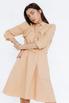 Платье-рубашка длины миди песочного цвета в прокат и аренду в Киеве. Фото 1