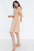 Платье-рубашка длины миди песочного цвета в прокат и аренду в Киеве. Фото 3