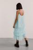 Полупрозрачное голубое платье с объемными аппликациями в прокат и аренду в Киеве. Фото 3