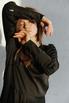 Черное шелковое платье в пол с длинным рукавом в прокат и аренду в Киеве, Одессе, Харькове. Фото 6