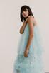 Полупрозрачное голубое платье с объемными аппликациями в прокат и аренду в Киеве. Фото 4