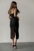 Трикотажное платье-бюстье миди черного цвета в прокат и аренду в Киеве. Фото 5