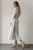 Белое платье миди с контрастными вставками из органзы в прокат и аренду в Киеве, Одессе, Харькове. Фото 4