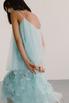 Полупрозрачное голубое платье с объемными аппликациями в прокат и аренду в Киеве. Фото 5