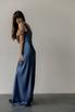 Вечернее платье-бюстье в пол из шелка синего цвета в прокат и аренду в Киеве. Фото 3