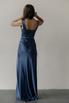 Вечернее платье-бюстье в пол из шелка синего цвета в прокат и аренду в Киеве. Фото 5