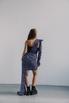 Черное платье-корсет длины мини c лиловым принтом в прокат и аренду в Киеве. Фото 4