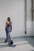 Черное платье-корсет длины мини c лиловым принтом в прокат и аренду в Киеве. Фото 5