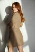 Бежевое платье жакет с поясом и длинным рукавом в прокат и аренду в Киеве. Фото 3