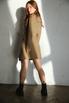Бежевое платье жакет с поясом и длинным рукавом в прокат и аренду в Киеве. Фото 4