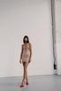 Корсетное бежевое платье со вставками из сетки в прокат и аренду в Киеве. Фото 2