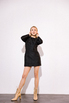Платье из жаккарда с принтом цветы черного цвета цвета длины мини в прокат и аренду в Киеве. Фото 5