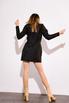 Платье из жаккарда с принтом цветы черного цвета цвета длины мини в прокат и аренду в Киеве. Фото 4