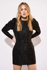 Платье из жаккарда с принтом цветы черного цвета цвета длины мини в прокат и аренду в Киеве. Фото 1