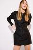 Платье из жаккарда с принтом цветы черного цвета цвета длины мини в прокат и аренду в Киеве. Фото 7