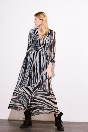 Шифоновое платье миди с принтом зебра в прокат и аренду в Киеве. Фото 2