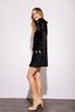 Короткое черное шелковое платье с длинным рукавом в прокат и аренду в Киеве. Фото 3