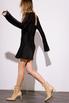 Короткое черное шелковое платье с длинным рукавом в прокат и аренду в Киеве. Фото 4