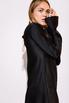 Короткое черное шелковое платье с длинным рукавом в прокат и аренду в Киеве. Фото 6