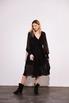 Шелковое платье миди черного цвета с расклешенной юбкой в прокат и аренду в Киеве. Фото 2