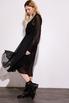 Шелковое платье миди черного цвета с расклешенной юбкой в прокат и аренду в Киеве. Фото 3