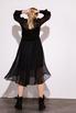 Шелковое платье миди черного цвета с расклешенной юбкой в прокат и аренду в Киеве. Фото 4